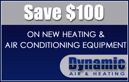 Save $100 on New Heating & Air Conditioning Equipment